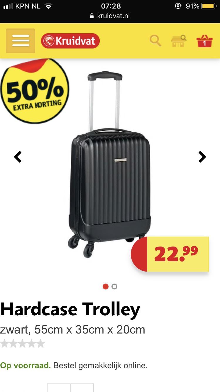 Hardcase trolley Kruidvat 11.49!