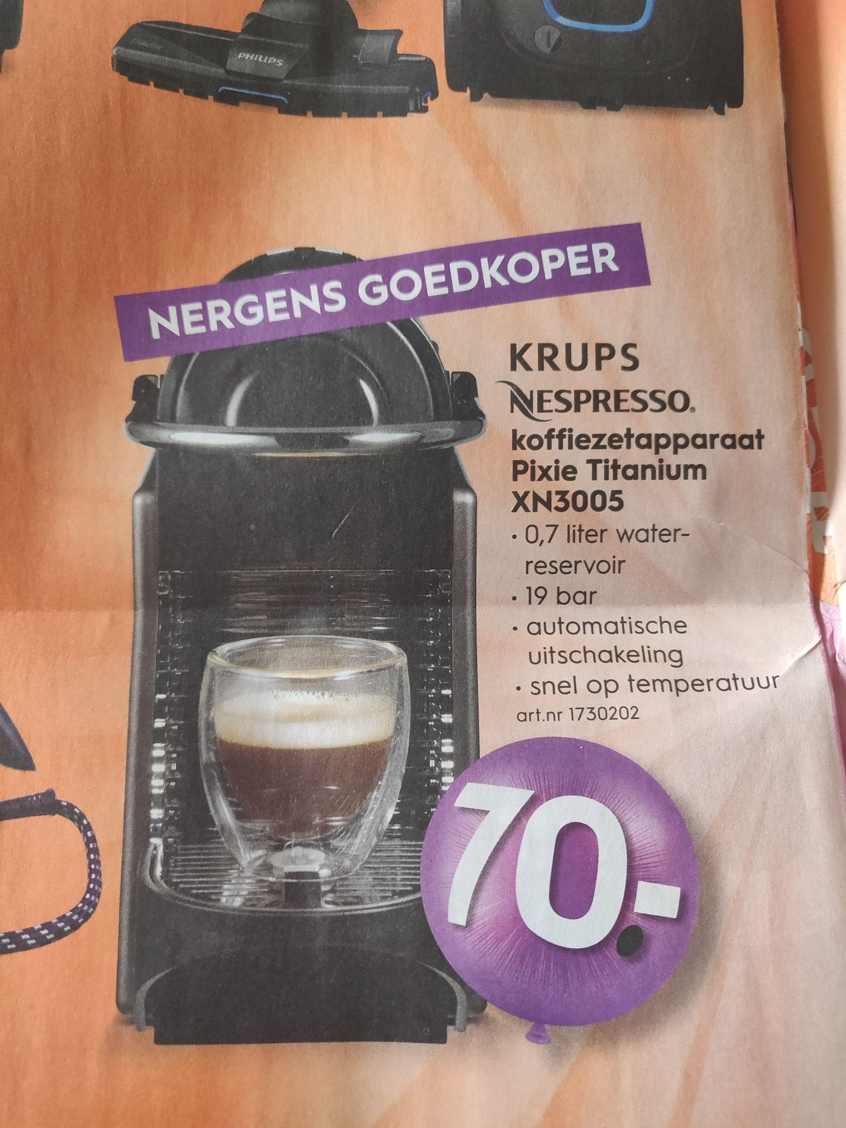 [BLOKKER] Nespresso koffiezetapparaat Pixie Titanium XN3005