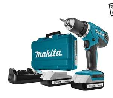 Gamma | 40% korting, van €209 naar €129, Makita accuboormachine DF457DWE 18 volt lithium-ion