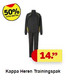 Kappa trainingspak voor € 7,50 (50% korting) @ Kruidvat