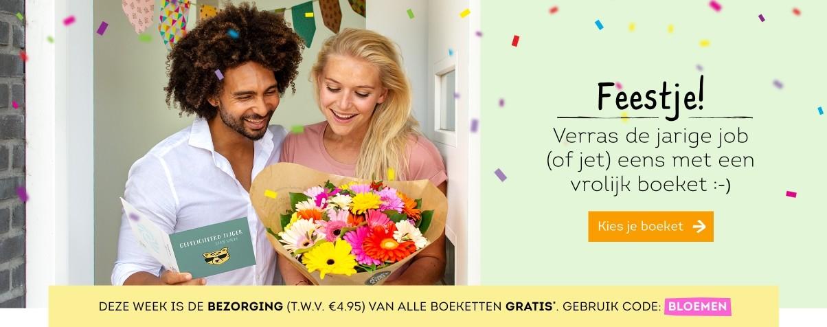 Greetz: Deze week gratis verzendendkosten van Bloemen t.w.v. € 4,95