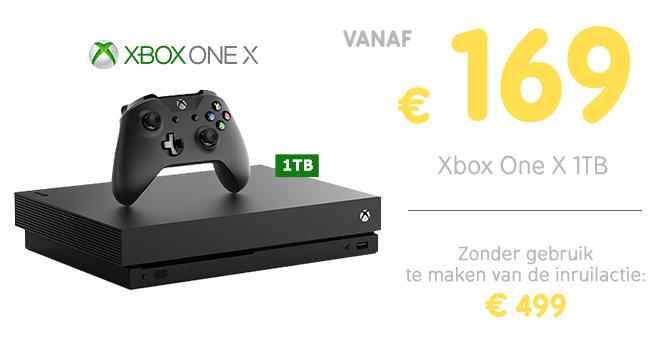 Inruilactie Xbox One X: vanaf 169