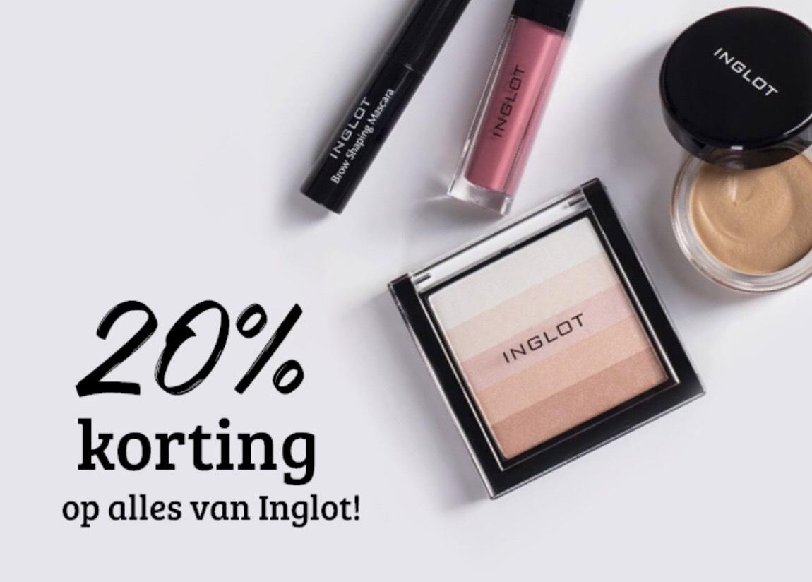 20% korting op alles van Inglot @ Boozyshop