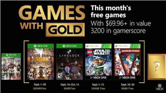 Games with Gold van September 2018