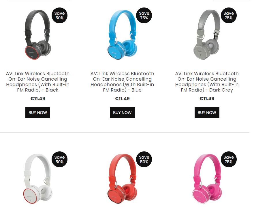 50 - 75% korting op AV: Link wireless noise cancelling headphones | iwoot