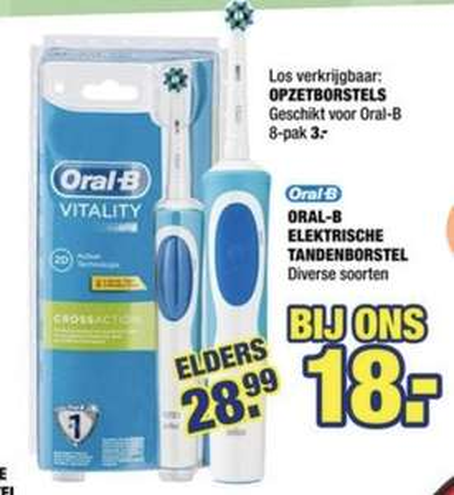 Elektrische tandenborstel ORAL-B Vitality Cross Action Basic @Big Bazar
