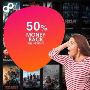 50% Cashback op Netflix, Spotify, Clash Of Clans & Prime Video (iOS)