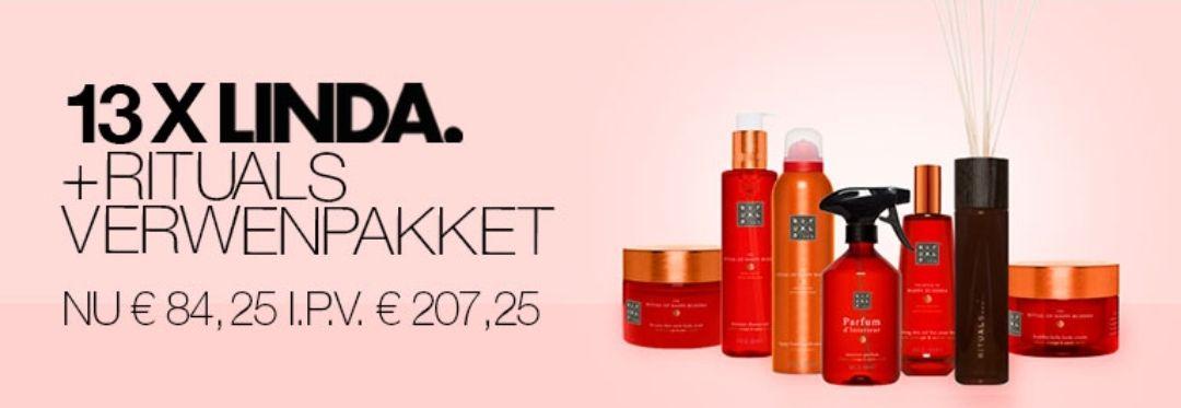 13X Linda+Rituals verwenpakket voor €84,25 i.p.v. €207,25