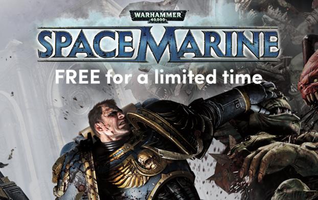 Warhammer 40,000: Space Marine (Steam) gratis na inschrijven van nieuwsbrief @ Humble Bundle