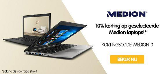 Diverse Medion laptops met 10% korting bij MyCom