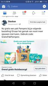 Stockon €10 euro korting. (pampers)