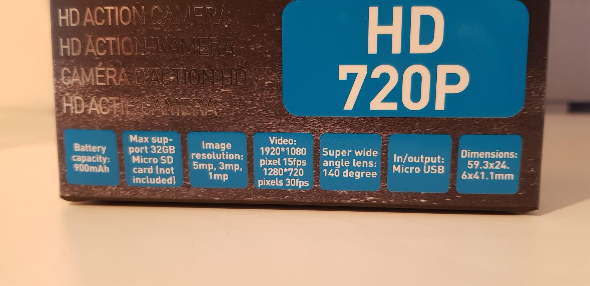 BLOKKER - HD action camera 1+1 gratis