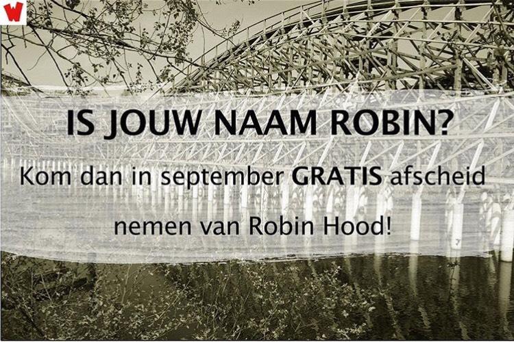 Gratis (Onbeperkt) Toegang Tot Walibi Holland Voor Robin/Robine/Robyn/Robbin @ Walibi