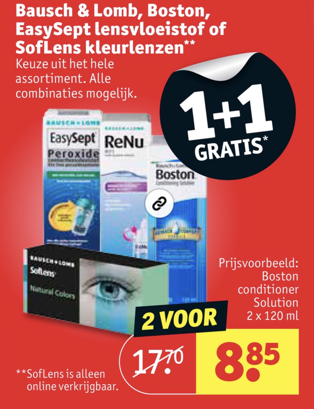 Bausch & Lomb 1+1 gratis @ Kruidvat