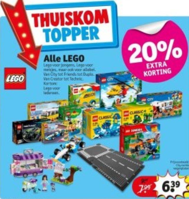 20% tot 25% korting op Lego bij Kruidvat, Makro, Intertoys en Blokker