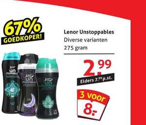 Diverse Lenor Unstoppables 3 voor €8,-