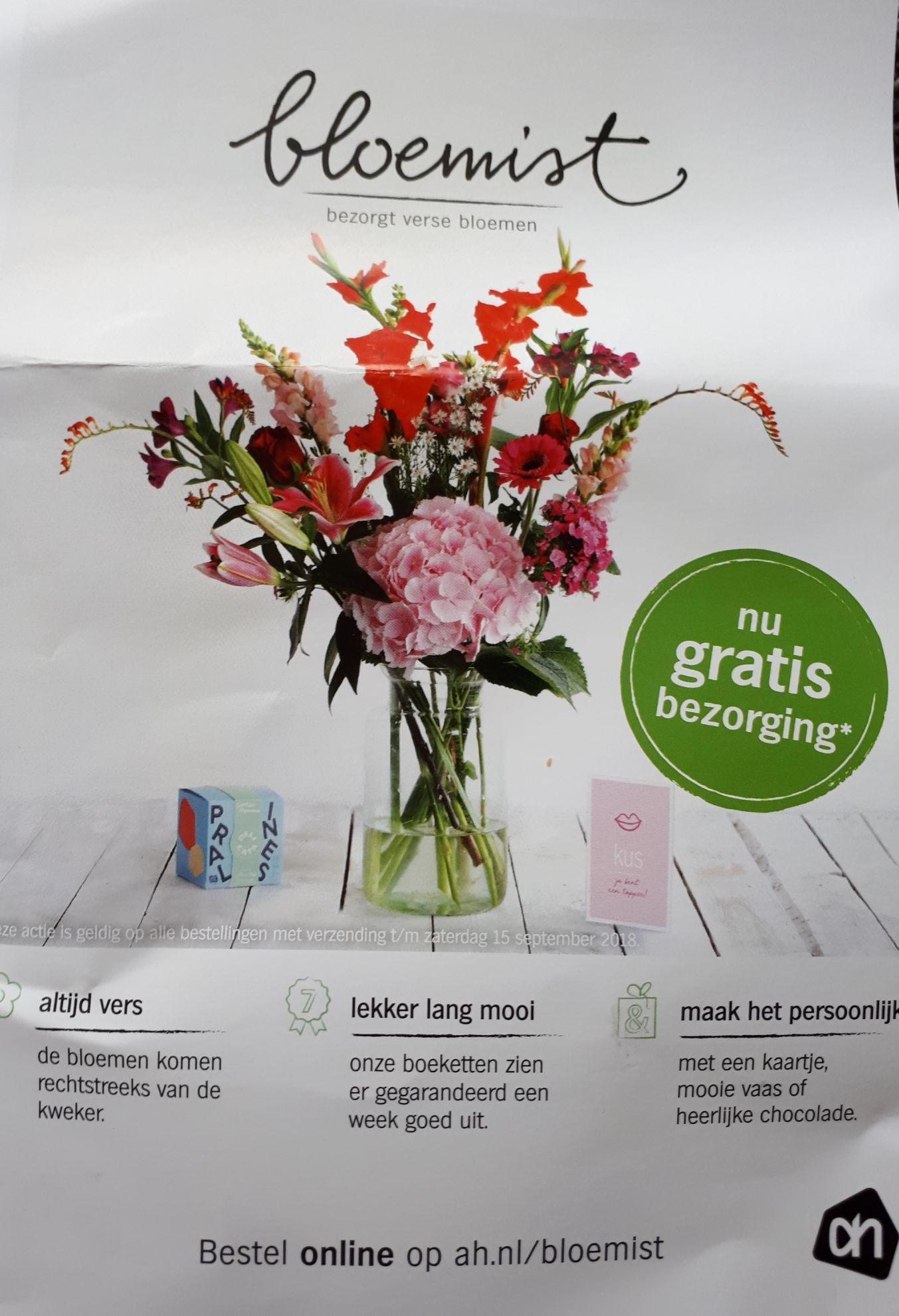 Gratis bezorgen op ah.nl/bloemist