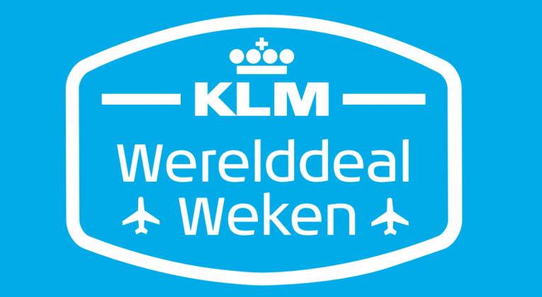 KLM Werelddeal Weken vanaf donderdag 6-9