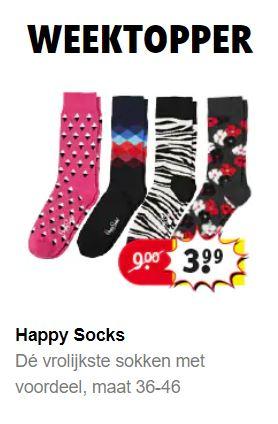 Happy Socks - diverse prints - mt 36 t/m 46 @ Kruidvat