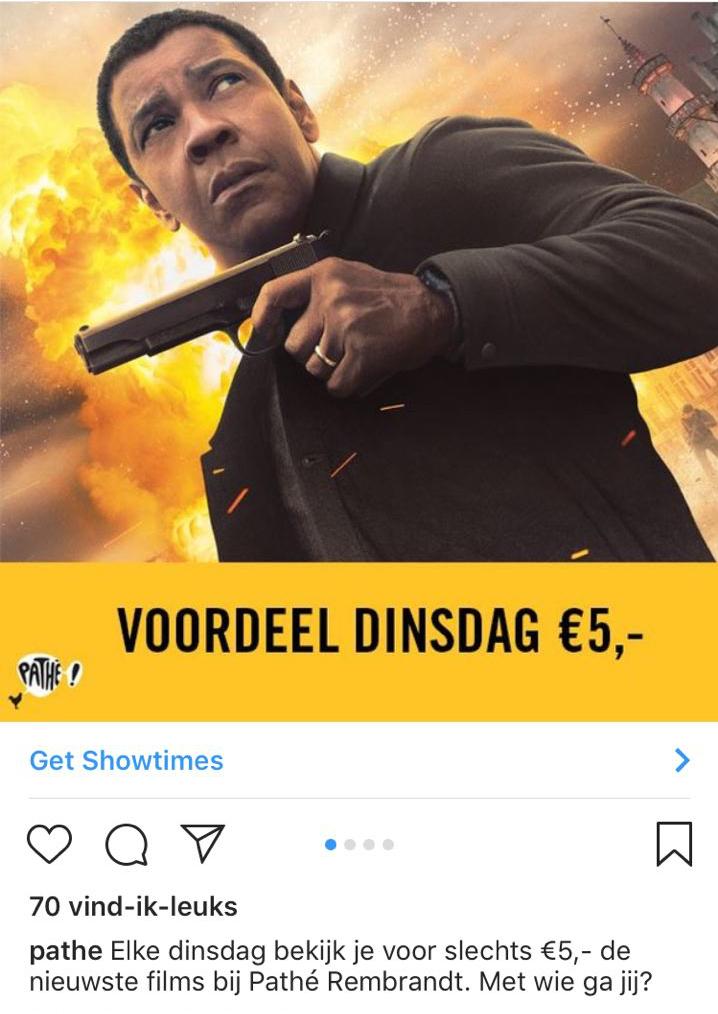 Pathé Rembrandt Utrecht - Elke dinsdag voor slechts €5,- naar de bios