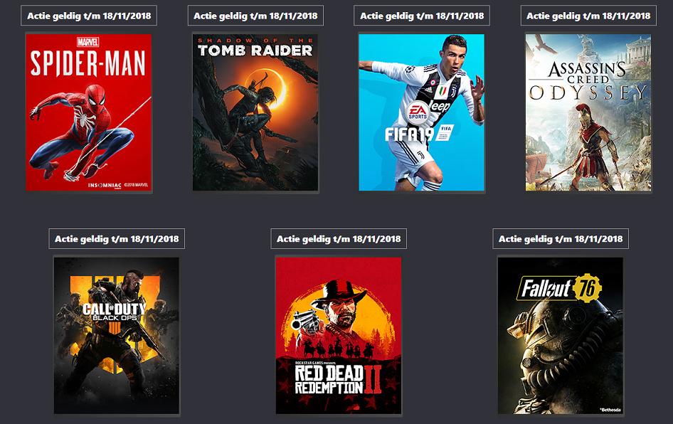 Inruilacties op alle topgames van het najaar vanaf €25 bij inlevering van 2PS4/XONE/Switch games @ Gamemania