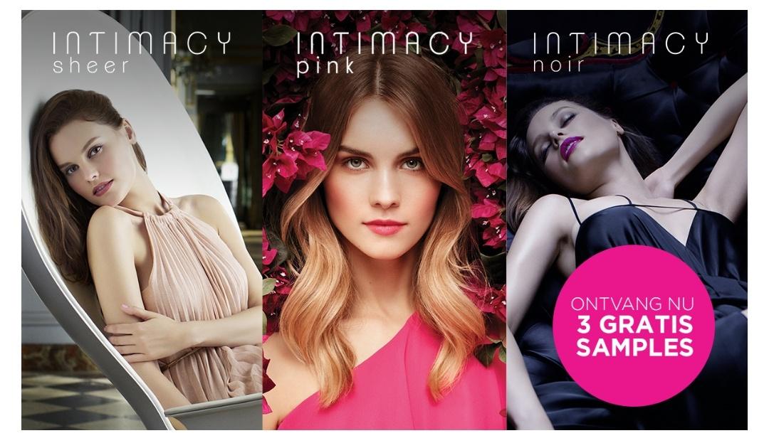 Gratis 3 Intimacy parfumsamples + 25% kortingscode