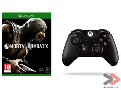 Xbox One Wireless Controller + Mortal Kombat X voor €69,95 @ 4Launch