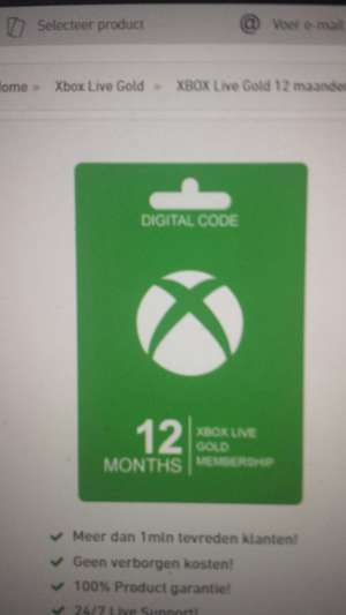 Xbox live gold 12 maanden 31.25 ( Met vpn)