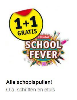 Kruidvat schoolspullen 1+1 gratis (=50% korting) o.a. Eastpak @ Kruidvat