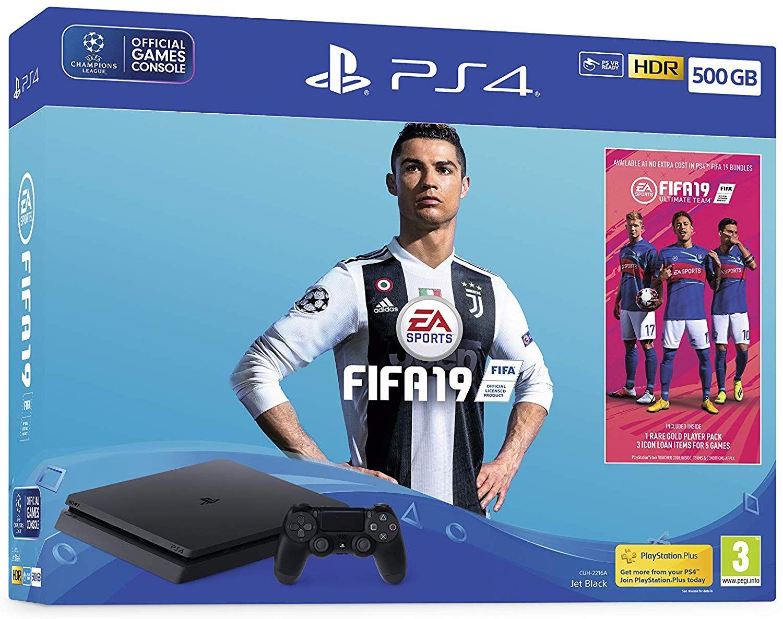 PS4 slim 500GB met 1 Dualshock 4 + FIFA 19