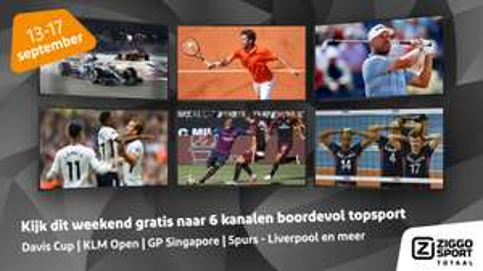 Ziggo Sport Totaal tijdelijk gratis!