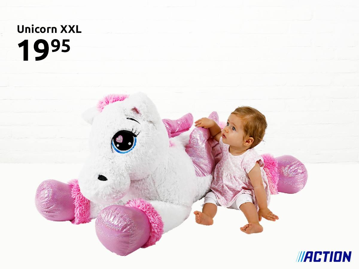 XXL Unicorn pluche knuffel [135 cm] @ Action