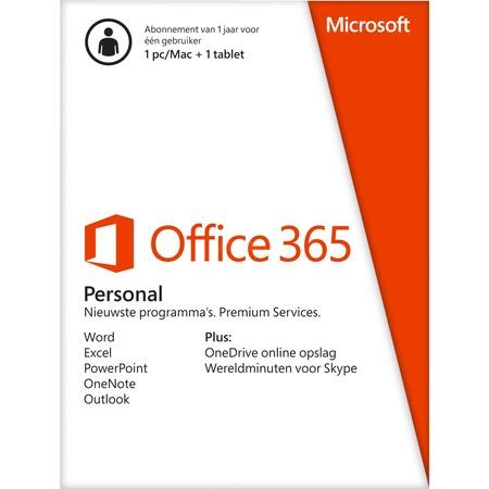Microsoft Office 365 Personal NL voor €34,99 @ Alternate