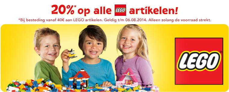 20% korting op LEGO artikelen @ Toys''R''Us