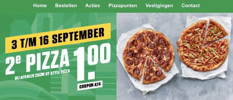 New York pizza 2e pizza 1 euro