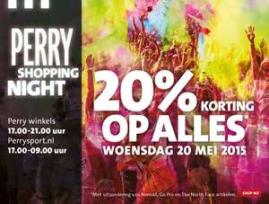 20% extra korting op alles @ Perry Sport