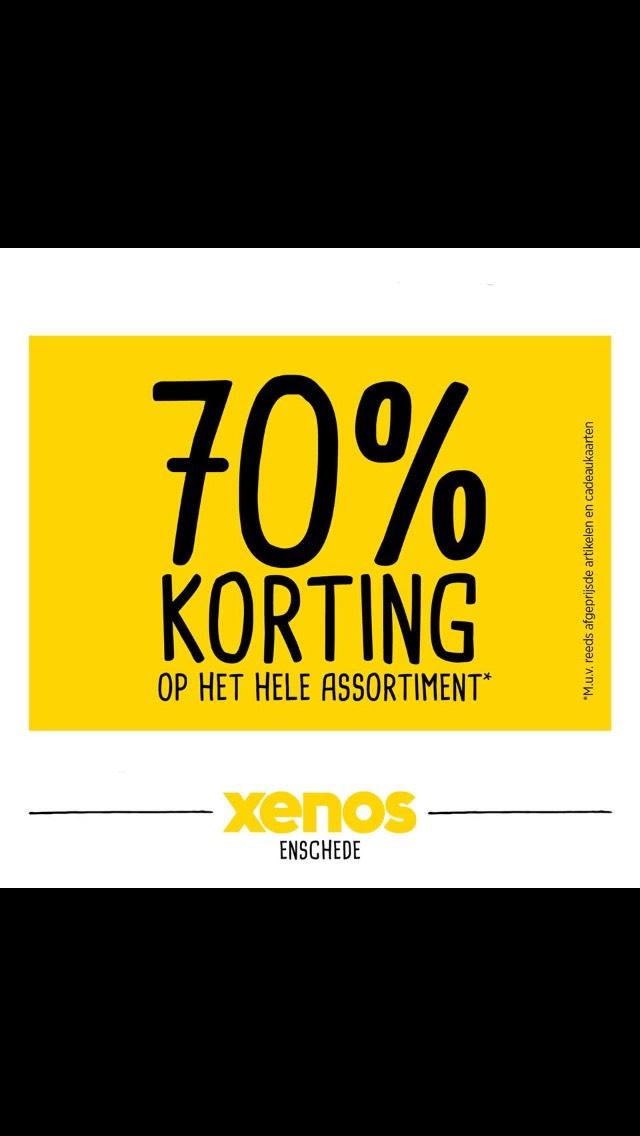 Xenos Enschede vanaf morgen op alles 70% korting !!!