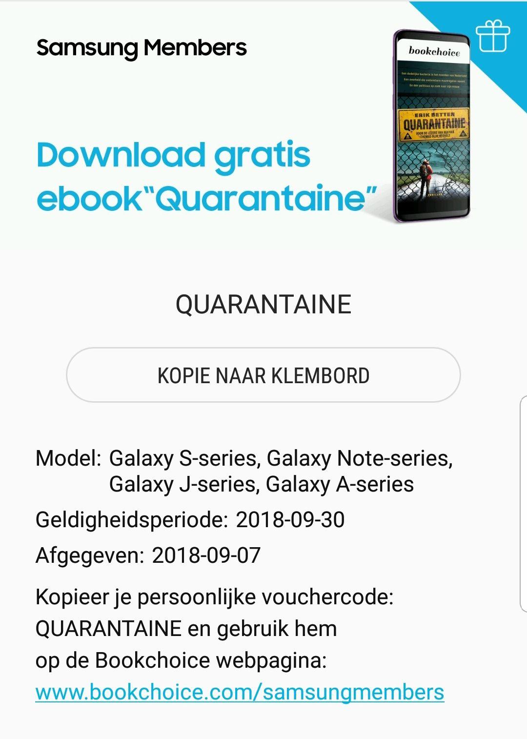 Gratis ebook: Quarantaine