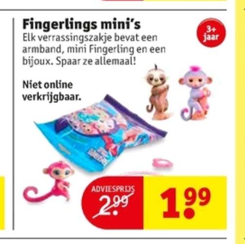 @Kruidvat Fingerlings mini's €1.99