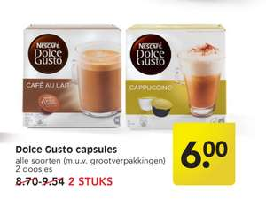 2 x 16 Dolce gusto capsules €6 (Emte)