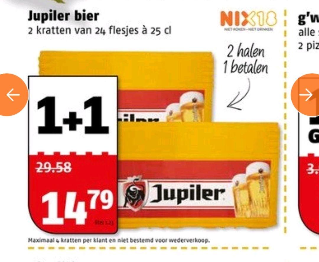 2 kratten Jupiler voor 14,79