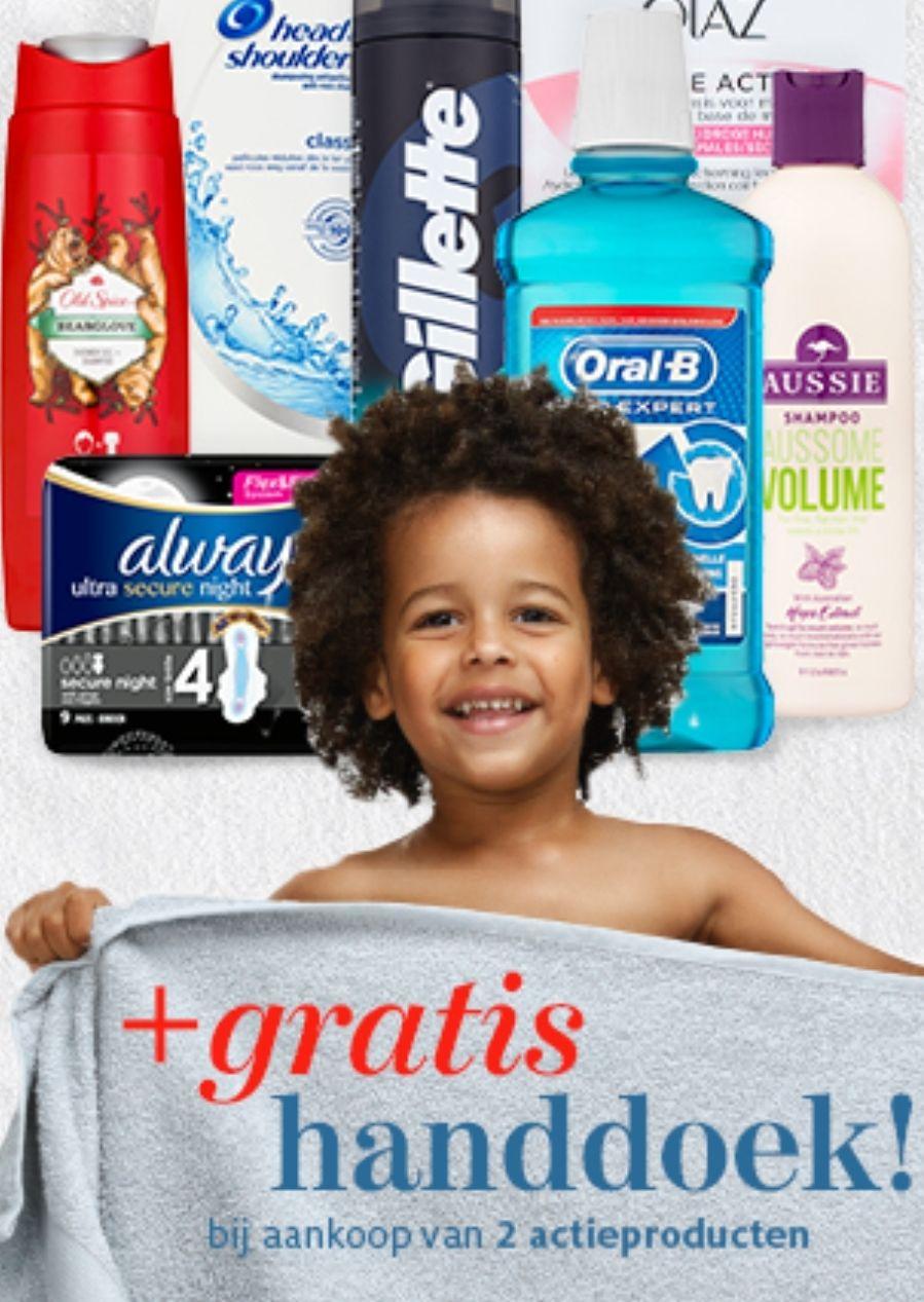 Gratis handdoek bij aankoop van 2 actieproducten bij Etos