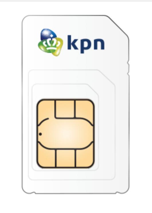 Geld toe (2,50) bij aanschaf kpn prepaid kaartje