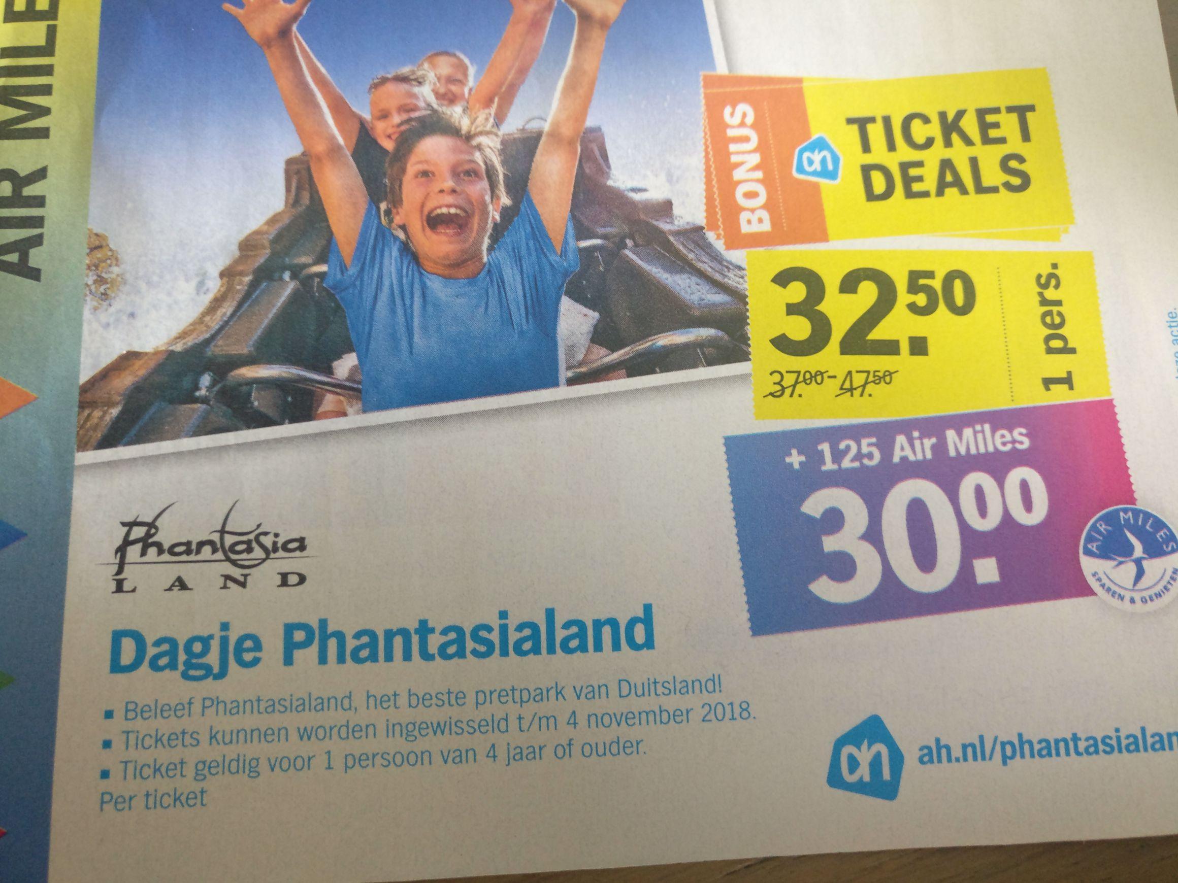 Dagje Phantasialand nu voor €32,50 of zelfs €30,00 bij inlevering van 125 airmiles!