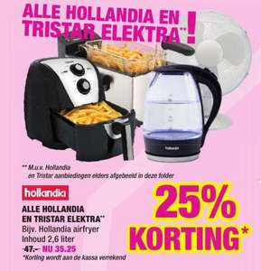[Big Bazar] Hollandia en Tristar elektra 25% korting