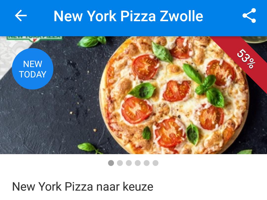 New York Pizza voor €4,00 (ipv €8,60) via SocialDeal in Zwolle
