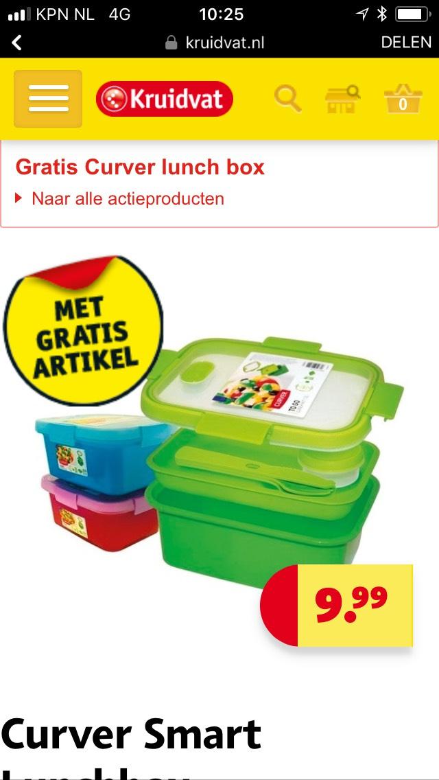 Gratis curver lunchbox bij aankoop actieartikel