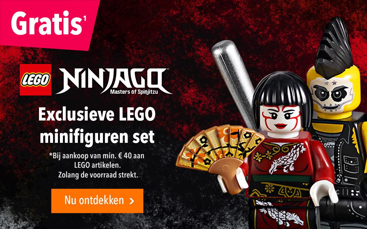 """Gratis Ninjago minifiguren set bij aankoop van minimaal €40 aan LEGO @ Toys""""R""""Us"""