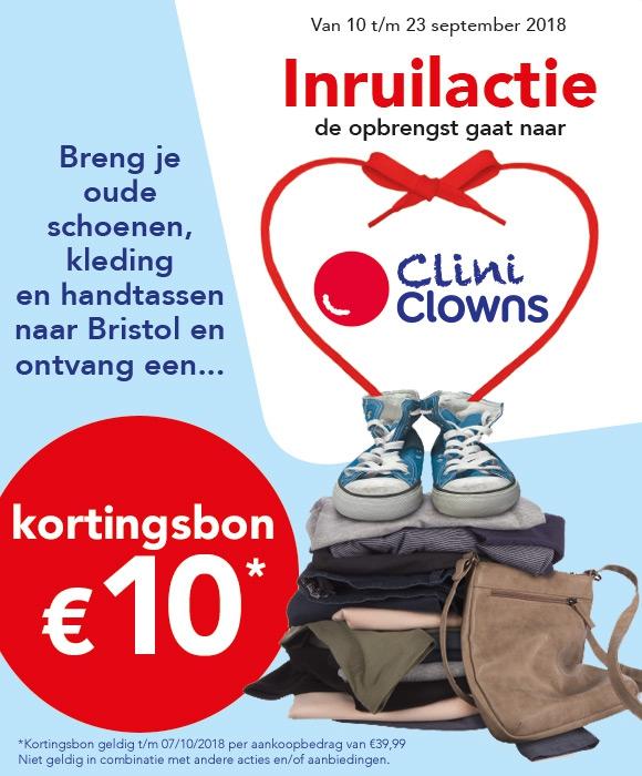 €10 kortingsbon bij inleveren van oude schoenen, kleding of handtassen (min. besteding €39,99) @ Bristol