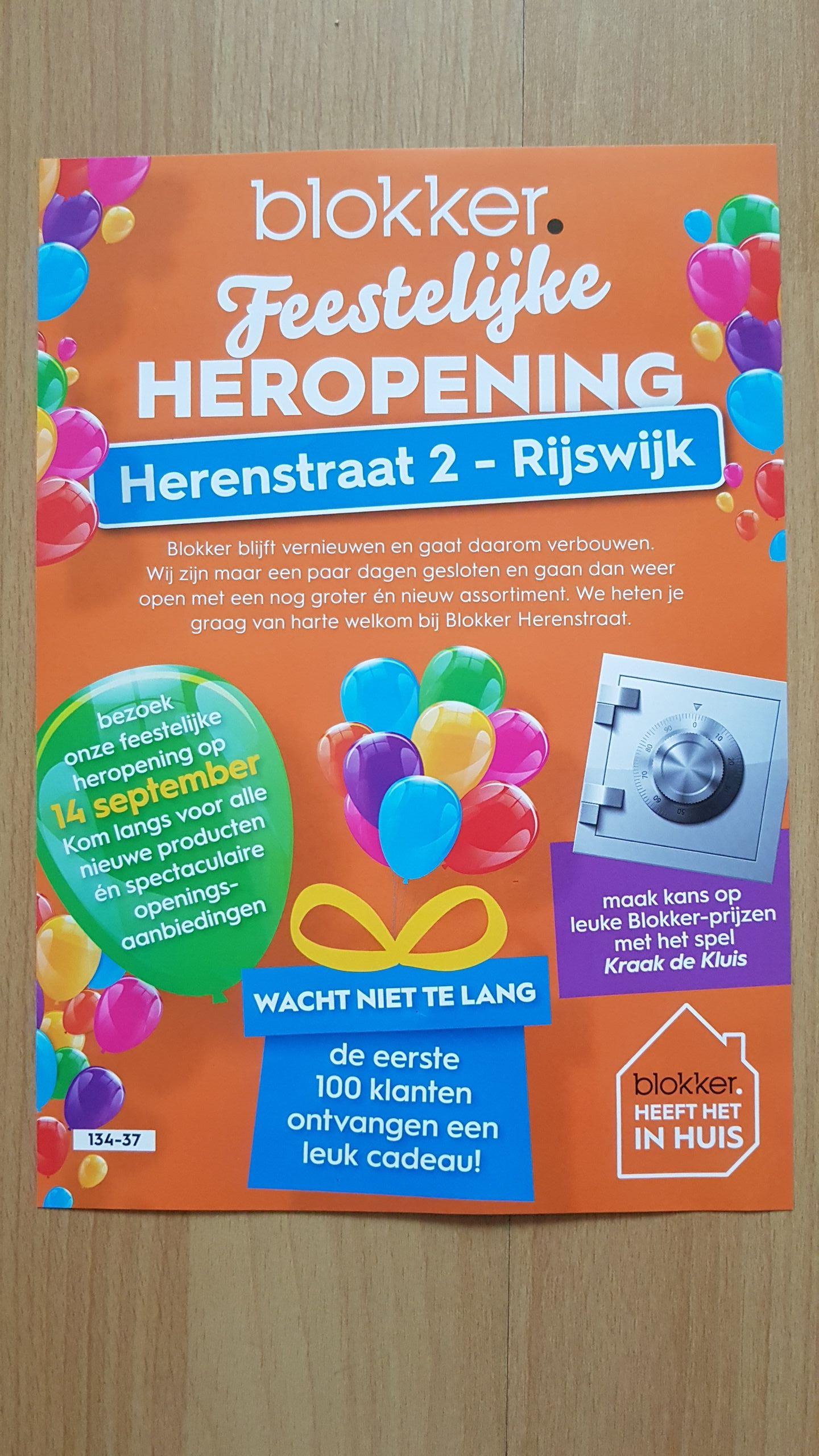 @Blokker,  feestelijke heropening Herenstraat-Rijswijk